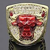 Golden_flower Sport Fans Collection Champion Ringe Fans Männer Memorial Ringe High-End-Kollektionen Fans Legierung Ringe Herren Accessoires Vintage-Zubehör, Gold, 9