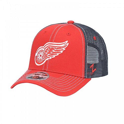 Zephyr NHL DETROIT RED WINGS Staple Trucker Adjustable Cap (Nhl Detroit Red Wings)