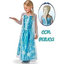 Disfraz de Elsa con Peluca - Niña, de 5 a 7 años
