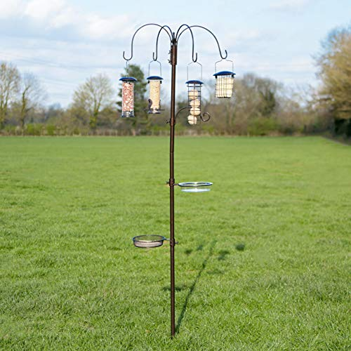 Kingfisher Deluxe Hammer Tone Wild Garden Bird Traditional Feeding Station