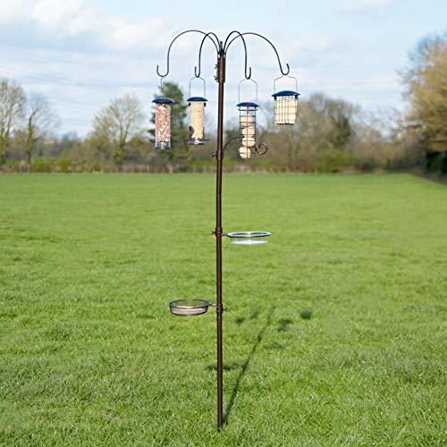 Kingfisher Deluxe Hammer Tone Wild Garden Bird Traditional Feeding Station (Bird Seed Feeder-kuchen)