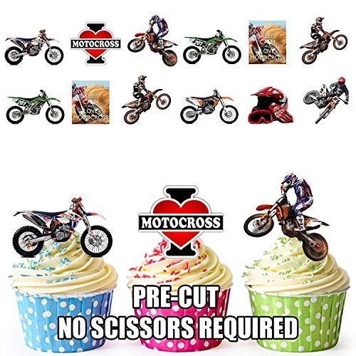 ix Party Pack 36 Esspapier Cup Cake Topper Dekoration ()