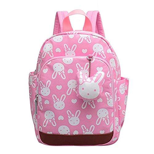 Naerde lapin animaux mignon sac à dos beau sac à dos livre enfants bébé filles sac d'école Rose