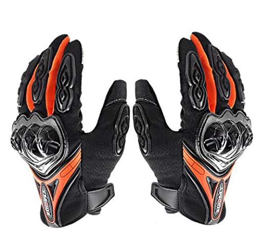 Bruce dillon guanti da moto da uomo guanti da moto invernali antivento impermeabili touch screen guanti da moto -arancione xm