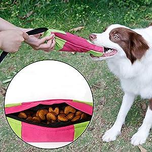 Tofree Chien Sucette d'entraînement Jouet Durable pour Animal Domestique Snack Dummy Pochette d'activité Jouer Jouets
