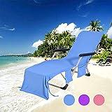 Fauteuil de Plage Lounge Chair Couvre-Serviettes de Plage Couvre-Fauteuil Lounge en...