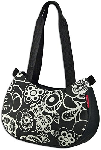 KLICKfix Farradtasche Stylebag Fleur Schwarz, 0262FS