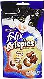 Felix Crispies Friandises pour chat Bœuf & Poulet 45 g - Lot de 8