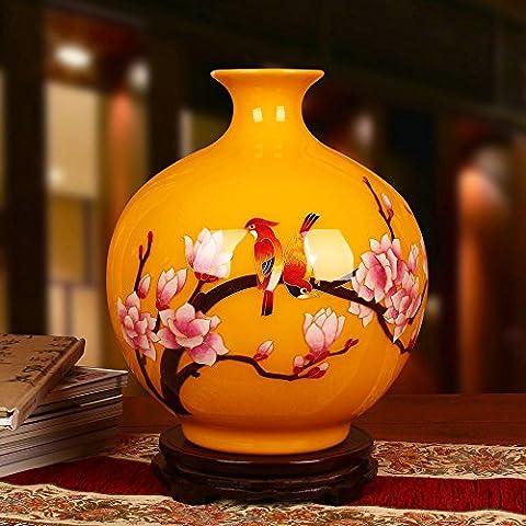 Maivace Vase En Céramique Décoration Décorative Arrangement Floral Or Céramique