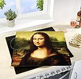 2x Wenko 2511913500 Motivplatte Mona Lisa, Glas, 50 X 1.8 - 4.5 X 56 cm
