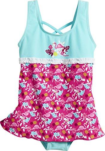 Playshoes Baby-Mädchen Badeanzug UV-Schutz Rock Flamingo, (Türkis 15), 86 (Herstellergröße: 86/92)