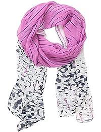 niceEshop(TM) Gradient Color Leopard Print Long Chiffon Spring Scarves Shawl,Roseo