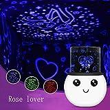 SYQS Étoile Lampe LED, Lampe multifonctionnelle lumière créative Nuit, Le Sommeil Aide Fantastique Lampe d'éclairage ambiant Rose Lover