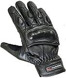 Knöchel gepolsterte Kurze Leder Motorrad Handschuhe, L