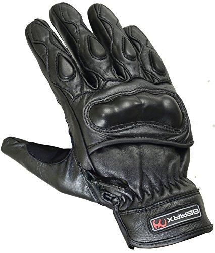 GearX Corto estivi vera pelle guanti moto articolazione della protezione