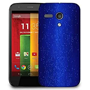 Snoogg Blue Codes Designer Protective Phone Back Case Cover For Motorola G / Moto G