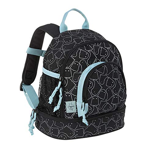 LÄSSIG Kinderrucksack Kindergartentasche mit Brustgurt/Mini Backpack Spooky, 27 cm, 5 L, Schwarz