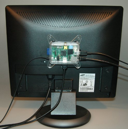 Mount Vesa Raspberry Pi (pi3g Raspberry Pi Monitorhalterung MIT Schrauben (VESA Standard, für alle TEK-BERRY Gehäuse))