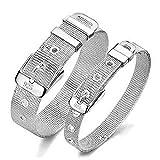 Naisicatar Jewelry Damen Armband 925 Sterling Silber Plate Fashion Mesh Belt Buckle Clasp Kette Armband Armschmuck