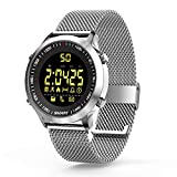 Smart Watches Bluetooth Fitness Trackers Smart Watch EX18 With Pedometer Stopwatch For Men Women Compatible Android iOS Phones (Silver)