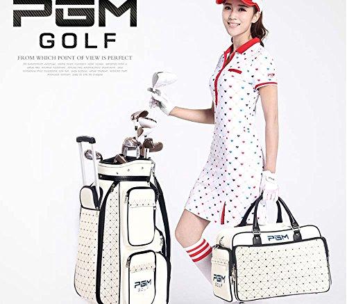 PGM Damen Golftasche mit Rollen und Handtasche aus PU-Leder, Golf Club Standard Bag+Hand Bag