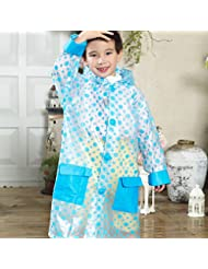 Imperméable imperméable imperméable à l'eau imperméable aux bébés et aux garçons Raincoat (bleu, rose, jaune)