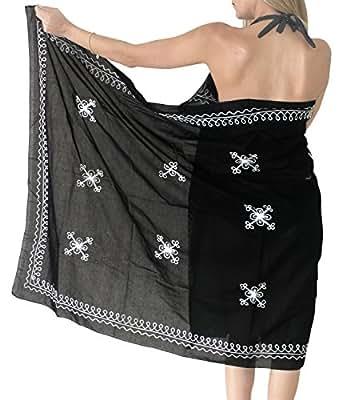 La Leela 100% brodé de coton super doux, plus la plage pareo 72x39 pouces sarong