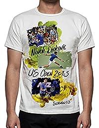 Daxie-FU Men s Tennis Novak Djokovic U.S. Open T-Shirt 43e442eab7
