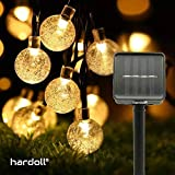 Solar lamp for Home Hardoll String Lights 30 LED Decorative Lighting Bubble Crystal Ball for Garden, Home, Patio, Lawn,Holiday,Indoor,Outdoor, Wedding Paty Decorations Waterproof(20FT-Warm White)