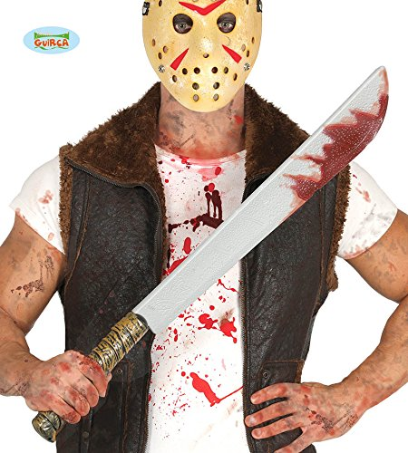 Guirca Halloween blutiges Messer Killer Mörder Psycho Schlachter Horror 73cm