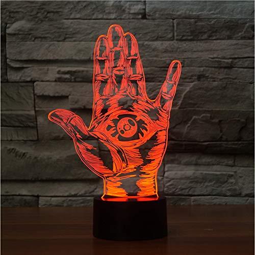 Schlafzimmer Atmosphäre Dekorative 3D Party Lichter Punk Rock Gesten Schreibtischlampe 7 Farbe Led Nachtlicht Als Freunde Geburtstag Cooles Geschenk