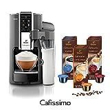 Tchibo Saeco Cafissimo Latte Kaffeemaschine inkl. 90 Kapseln, Argento