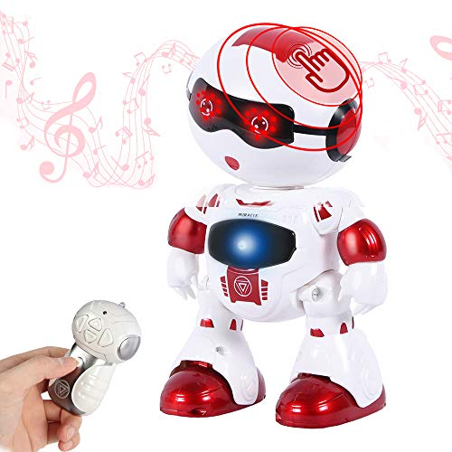 WISHTIME Fernbedienung Gehender Roboter Spielzeug Intelligentes Gehen RC Space Robot mit Touch Interaction Music Dance und Lichtern für Kinder …