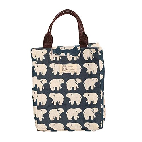 pu-ran-wateroroof-portable-thermal-insulated-lunch-box-bag-bento-velcro-lunch-pouch-polar-bear