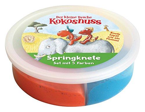 Preisvergleich Produktbild Der kleine Drache Kokosnuss - Springkneten-Set: 4 Farben