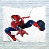 """Xinyi Home Tapisserie Murale à Suspendre en Tissu Polyester Motif Spiderman Décoration Murale pour dortoir, Chambre, Salon, Clou Inclus 60"""" W x 40"""" L (150cmx100cm) Spider Man 2"""