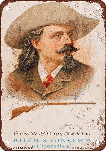 metal Signs 1887Buffalo Bill Cody Vintage Look Reproduktion Metall blechschild 30,5x 45,7cm -