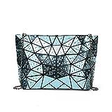 flada signore spalla borse geometriche divisione scozzese borse per le donne comuni effetto gocce di pioggia croce sacchi di plastica blu