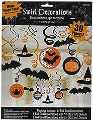 Idea Regalo - Amscan - Confezione di 30 decorazioni da appendere di Halloween