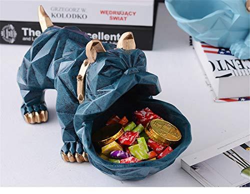 Foraging hamster Nordic Lucky Dog Tier Kreative Dekoration Dekoration Couchtisch Candy Platte Schuhschrank Schlüssel Lebensmittelgeschäft Aufbewahrungsbox Desktop (Color : Retro Blue) -