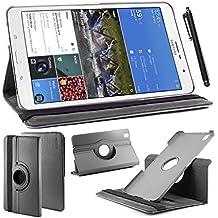 ebestStar - para Samsung Galaxy Tab Pro 8.4 SM-T320 [Dimensiones PRECISAS de su aparato : 219 x 128.5 x 7.2 mm, pantalla 8.4''] - Estuche Carcasa Funda PU cuero 360° rotativa + Estilete táctil, Color Negro