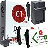 2x DOT-01 Brand Sony DSC-HX400V Batteries And Charger For Sony DSC-HX400V Camera And Sony HX400V Battery And Charger Bundle For Sony BX1 NP-BX1