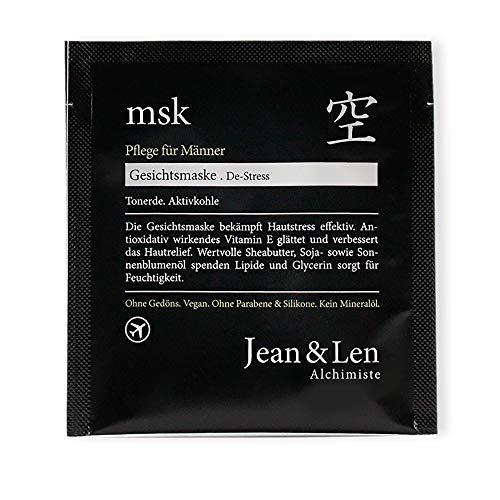 Jean & Len Gesichtsmaske Men De-Stress, Antioxidativ wirkendes Vitamin E glättet und verbessert das Hautrelief, 6 Stück