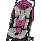 JOYREN Kinderwagen Sitzkissen 3D Netz atmungsaktiv warm, geeinigt für Kinderwagen, Sicherheitssitz, Esszimmerstuhl