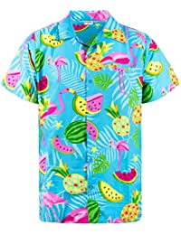 8dacf1fc Funky Hawaiian Shirt | Men | XS-6XL | Short-Sleeve | Front-Pocket |  Hawaiian-Print…
