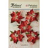 Petaloo Strukturierte Elements Jute Weihnachtssterne 2,5, Rot