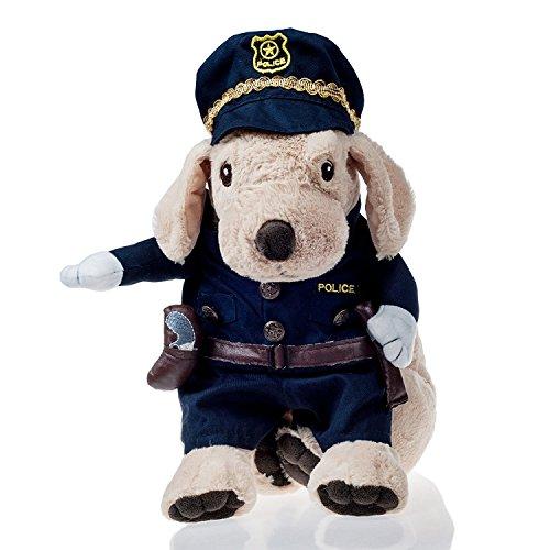 L-Peach Disfraz de Policía Ropa Traje Uniforme para Mascotas Animal Doméstico Gato Perro con Dos Patas y Gorro para Halloween Navidad M