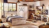 Dafnedesign.com Kinderzimmermöbel/Schlafzimmer, komplett, für Einzelbett, Matratze, Decke, Nachttisch, Vorhang, Lampe, Schrank, Schreibtisch und Studio, [Serie: Dafne-Real] - (DF11)