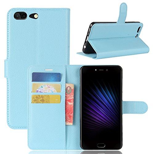 Handyhülle für Leagoo T5 95street Schutzhülle Book Case für Leagoo T5, Hülle Klapphülle Tasche im Retro Wallet Design mit Praktischer Aufstellfunktion - Etui Blau