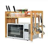 LXLA- Küche Vorratsdose Rack Mikrowelle Ofen Utensilien Rahmen Standing 1-Tier Schichten Ein Boden Multilayer Artikel Holz Weiß (Verfügbar 50/60 * 50 * 38 Cm) ( Farbe : Primary color 1 layer , größe : 60 )